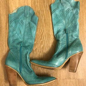 BCbGirls blue cowboy boots